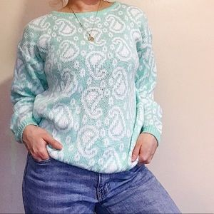 80's Paisley Knit Sweater